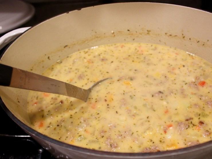 Italian sausage and potato soup