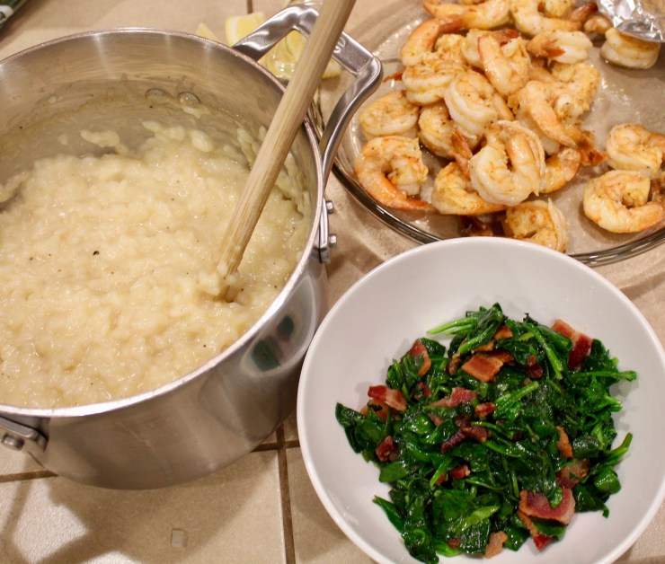 shrimp with risotto