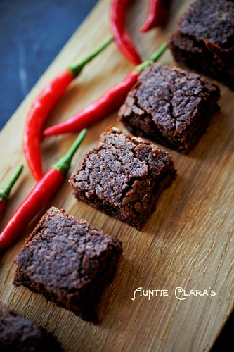 Auntie Clara's Chili-Chocolate Brownies