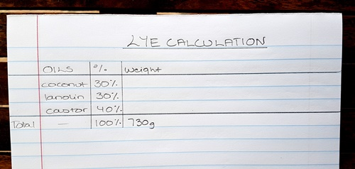 Lye Calculation 1