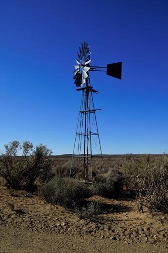 Langbaken wind pump