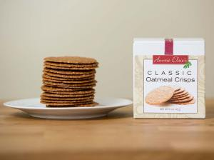 Auntie Elsie's Crisps Classic Oatmeal Cookies Product Shot