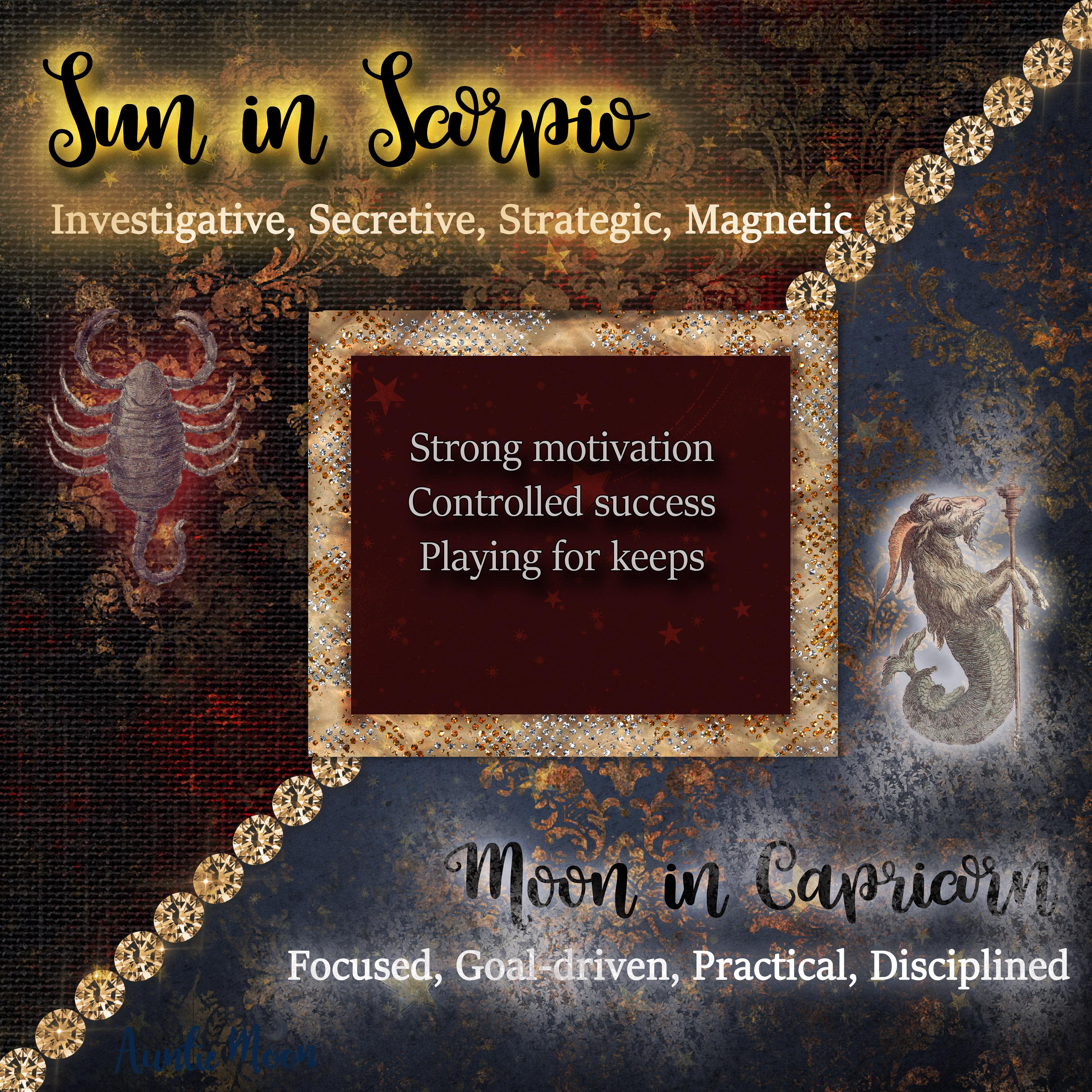 Sun In Scorpio Moon In Capricorn Auntie Moon