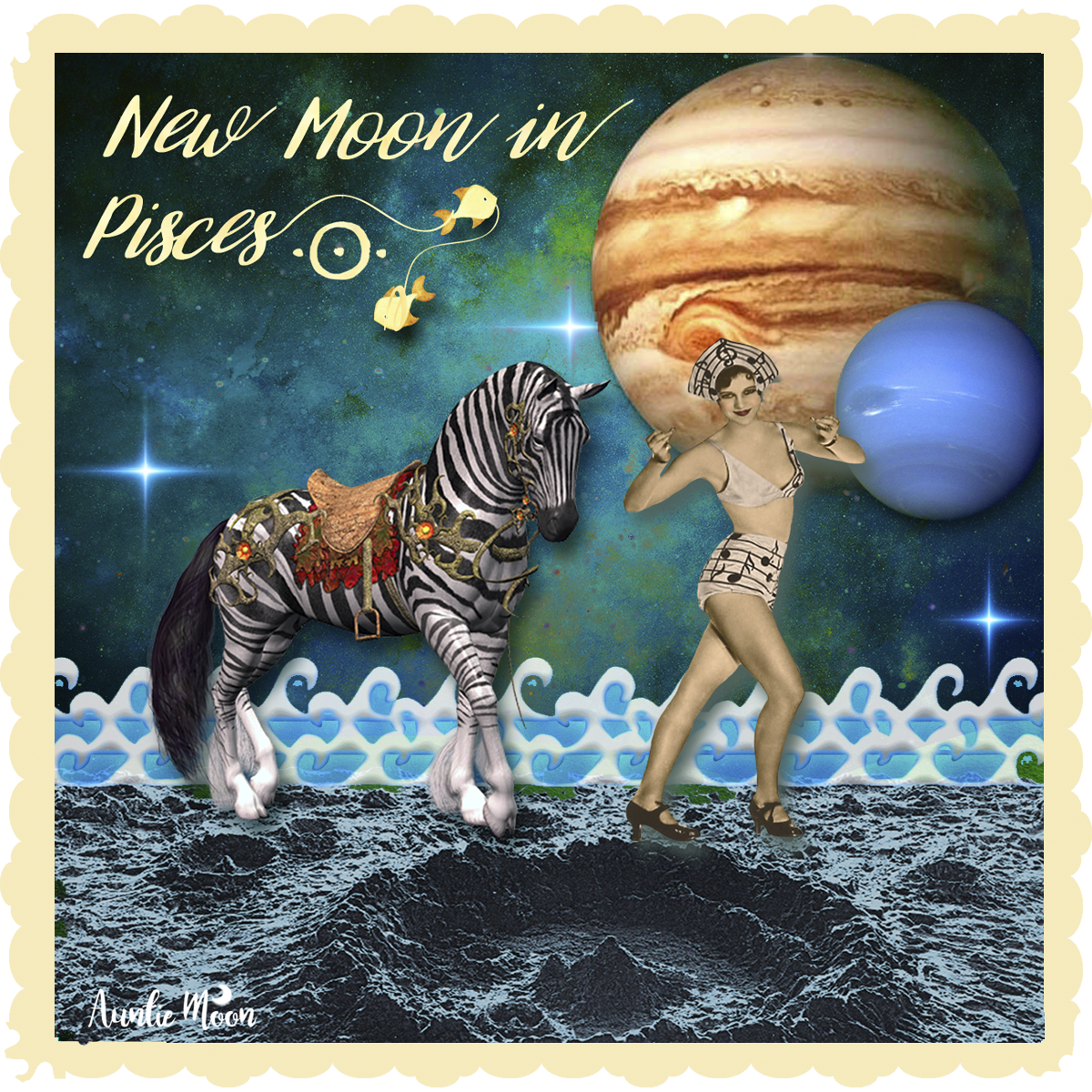 New Moon In Pisces Out Of The Formless Auntie Moon