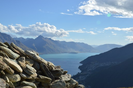 The Remarkables from on top of the Queenstown Hill!