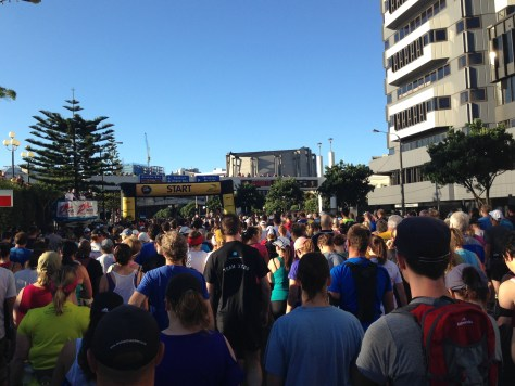 Waiting for the start line to go!