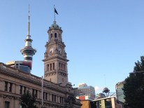 The Old and the New in Auckland.