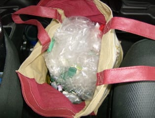 auntie stress plastic bags