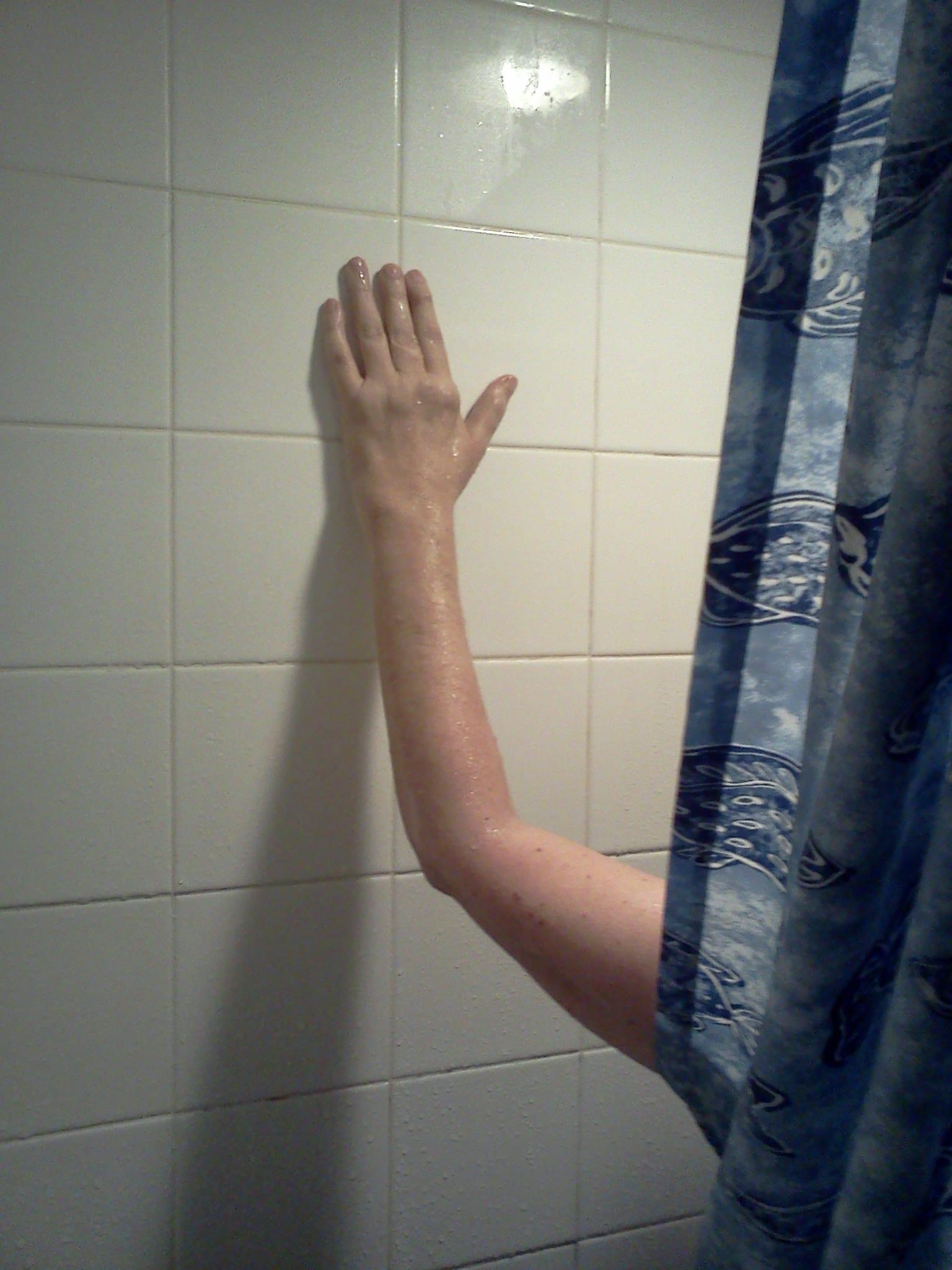 auntie stress shower exercises