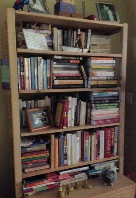 bookshelf auntie stress