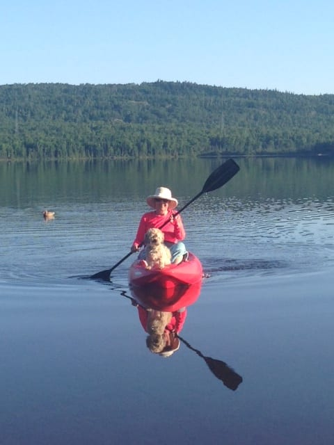 auntie stress kayaking