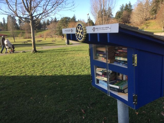 A Little Free Library, courtesy of the Rotary.
