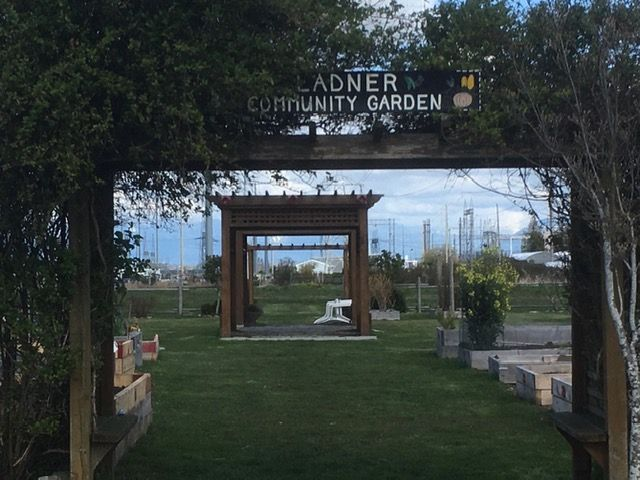 Entrance to the Ladner Community Garden.