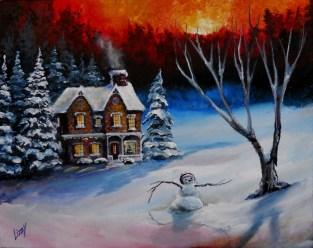 Christmas Sunset 16x20 2012