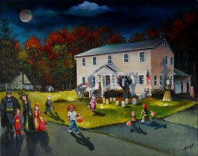 Halloween on LeClerc Avenue 16x20x1.5 2012 complete (1024x810)