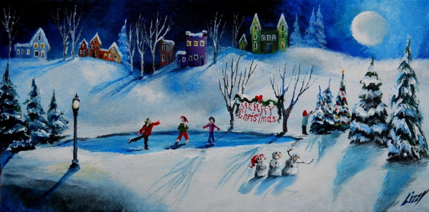 Moonlit Christmas Eve 10x20 2012
