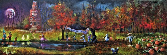 Reflections of A Jolly Halloween 12x36x1.5 2018