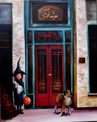 Sallies Little Witch at the Toy Shop 2 16x20 2014 (2)