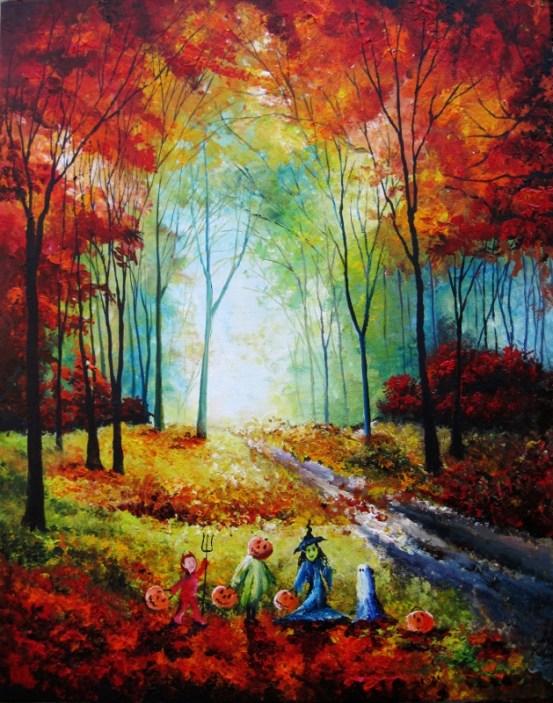 autumn woods trick or treat