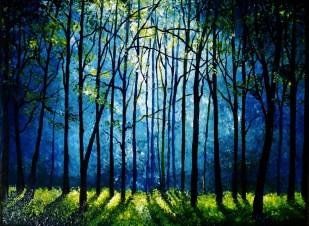 Blue Mist Morning Forest