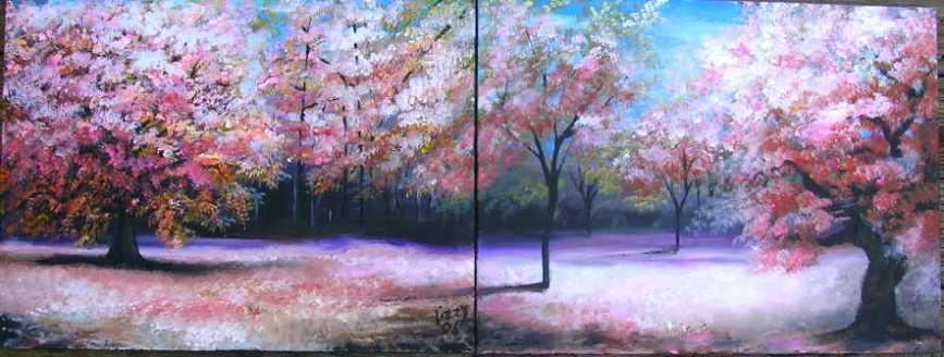 Cherry Tree Panoramic New York