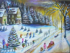 christmas eve snow 2009