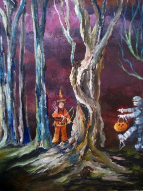 for auntlizzy trick or treat in tangled tree forest indian