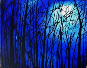 Tangled Trees in the Midnight Moon