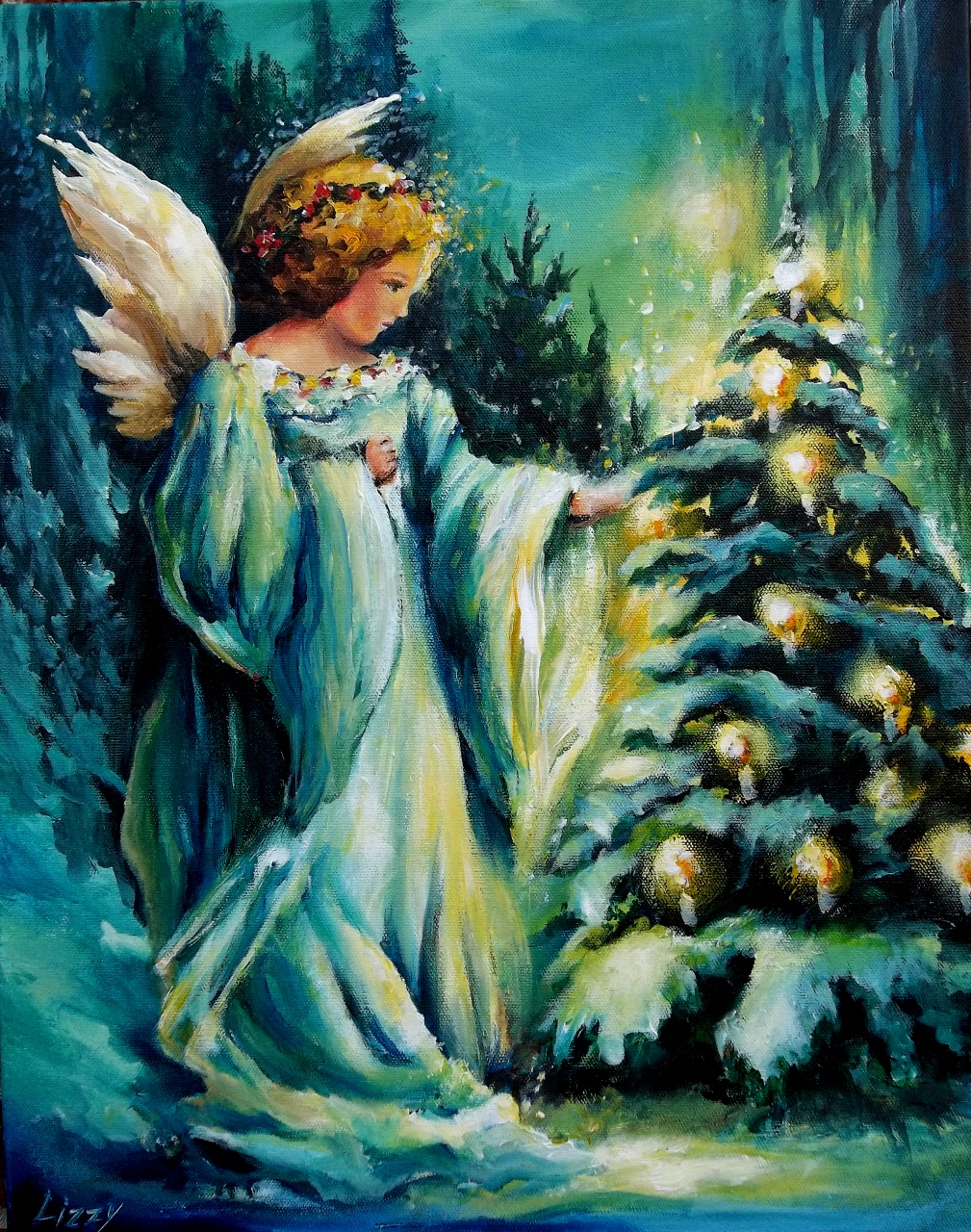 Christmas Eve Angel Sold Lizzy
