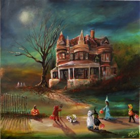 """The Three Lil Ghosts Watched Us Pass the Old Manor..."""