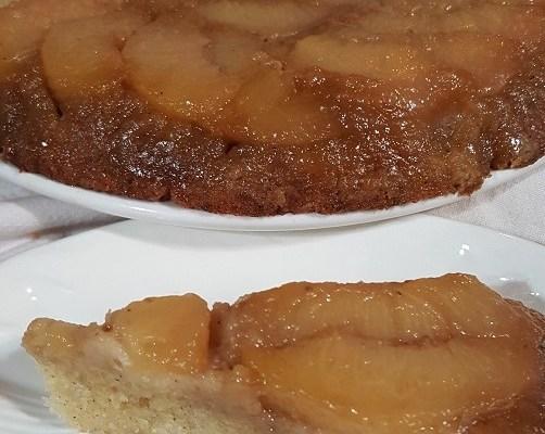 Gram-gram's peach upside-down cake