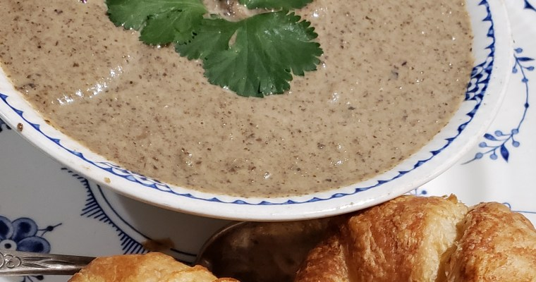 Cream of Mushroom soup with Marsala