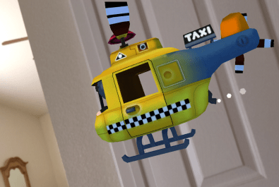 Helicopter Taxi turns your phone into a helicopter. This one was way more popular when they were smaller and also way more risky.
