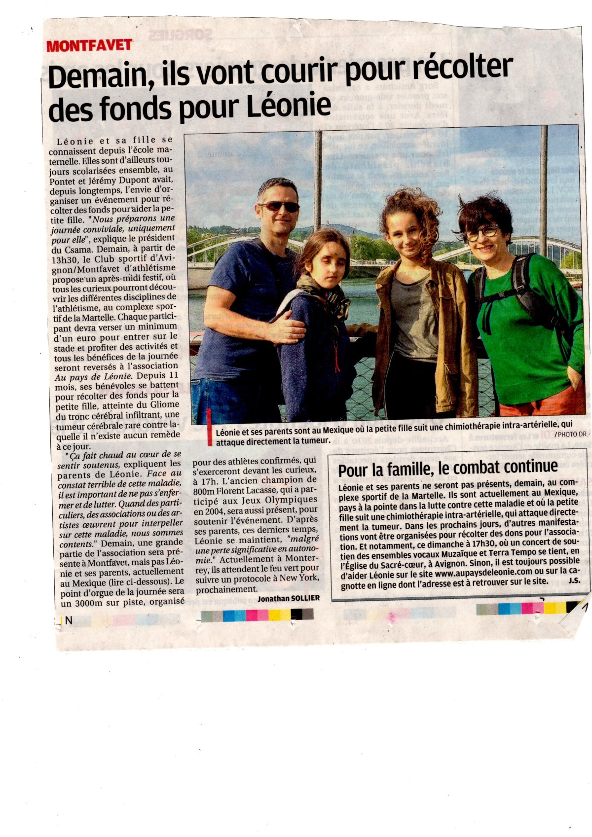 Léonie et sa famille. Lyon Mai 2018