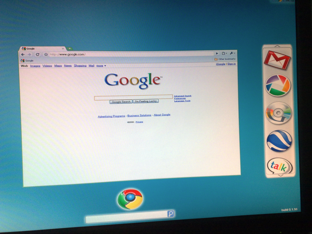 Google Chrome OS Printscreen