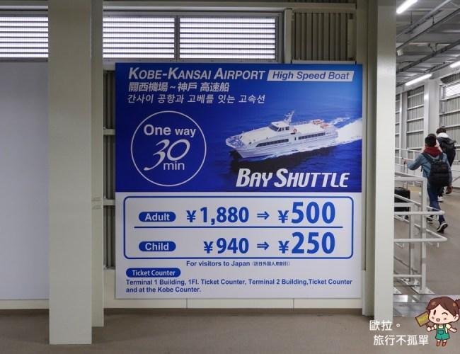 關西機場神戶高速船時刻表