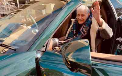 Care Home Grants Wishes To Elderly Residents – including riding in a Ferrari