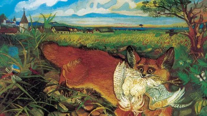 Antonio-Ligabue-Volpe-in-fuga-sd-1948-olio-su-tavola-di-faesite-60-x-75-cm-Reggio-Emilia