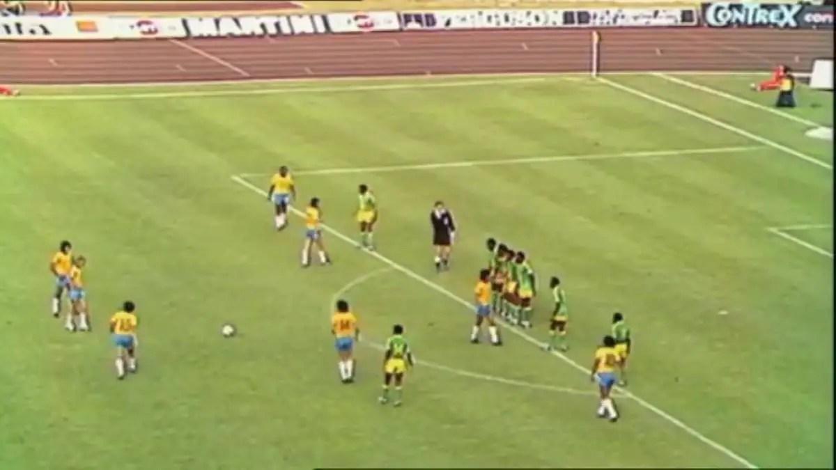 Brasile – Zaire e quel calcio di punizione tirato al contrario