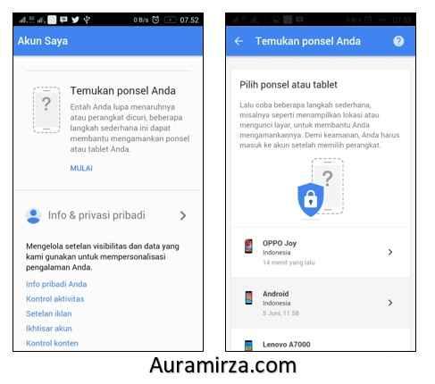 Cara Melacak HP yang hilang dengan Akun Google 2