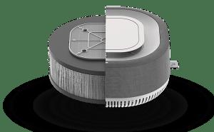 Aura Smart Air geavanceerd filter zuivert de lucht binnenshuis en rekent af met het Covid-19 virus.