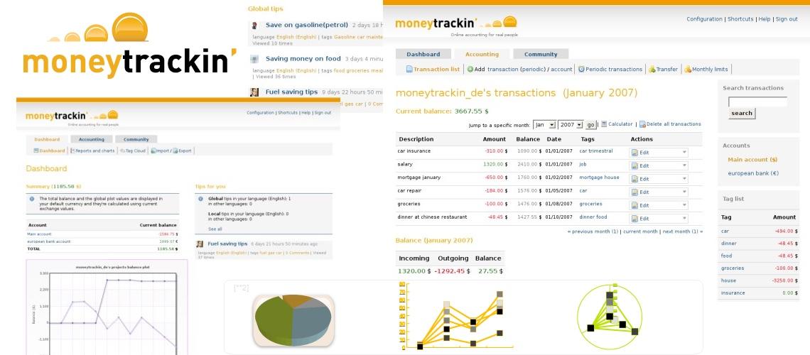 Moneytrackin, contabilidad online