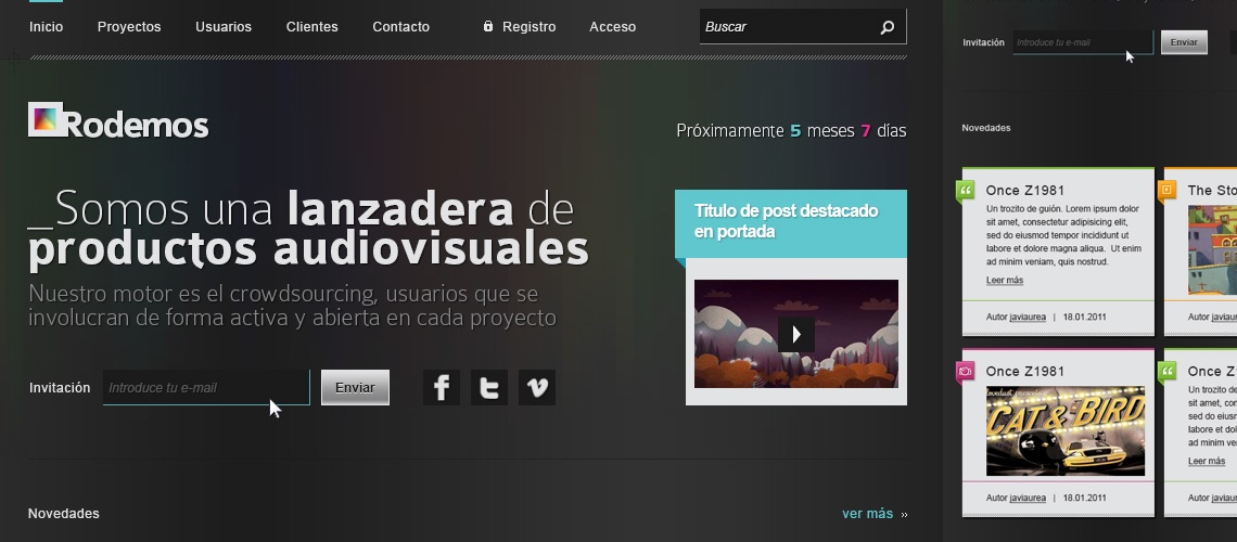 Rodamos, lanzadera audiovisual