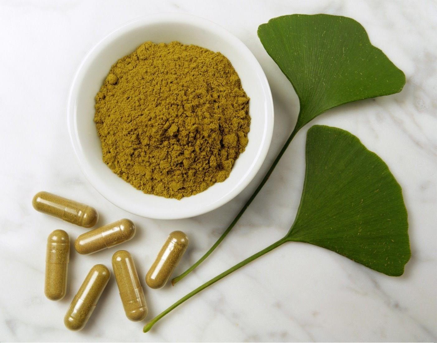 ginkgo biloba complements alimentaires gellules poudre et feuilles