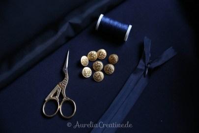 Aurelia Creative Larp Hogwarts Ravenclaw Outfit Materialübersicht