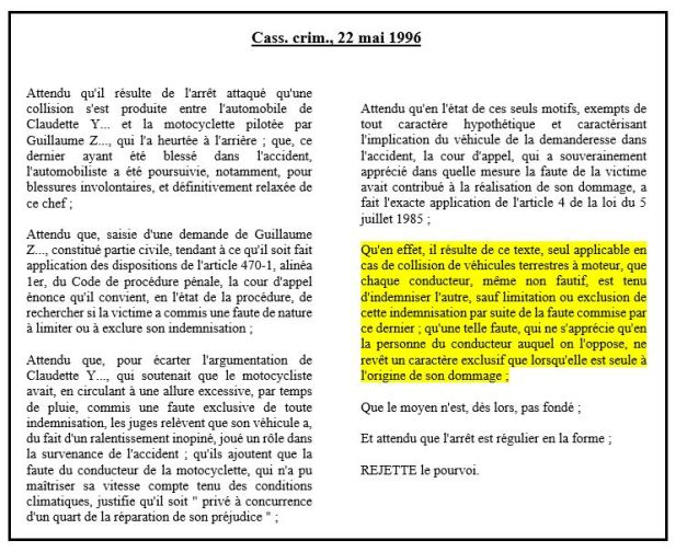 loi badinter du 5 juillet 1985 la responsabilit du fait des accidents de la circulation. Black Bedroom Furniture Sets. Home Design Ideas