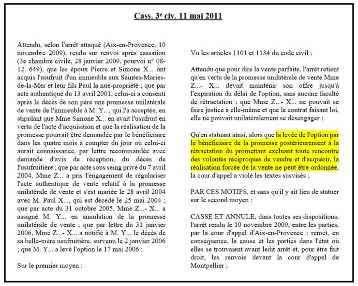 dissertation la force obligatoire de la promesse unilatérale de vente