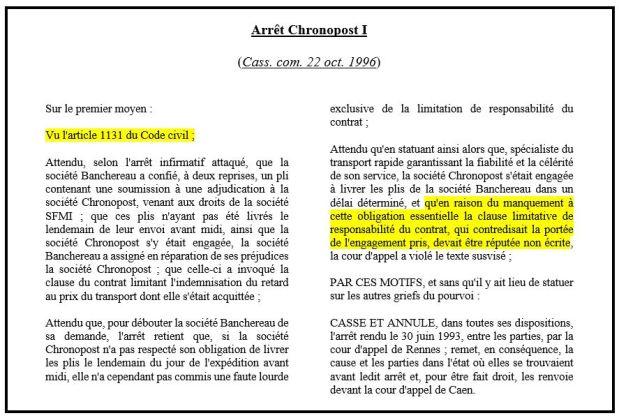 8323c6b6201 L obligation essentielle du contrat ou la consécration des ...