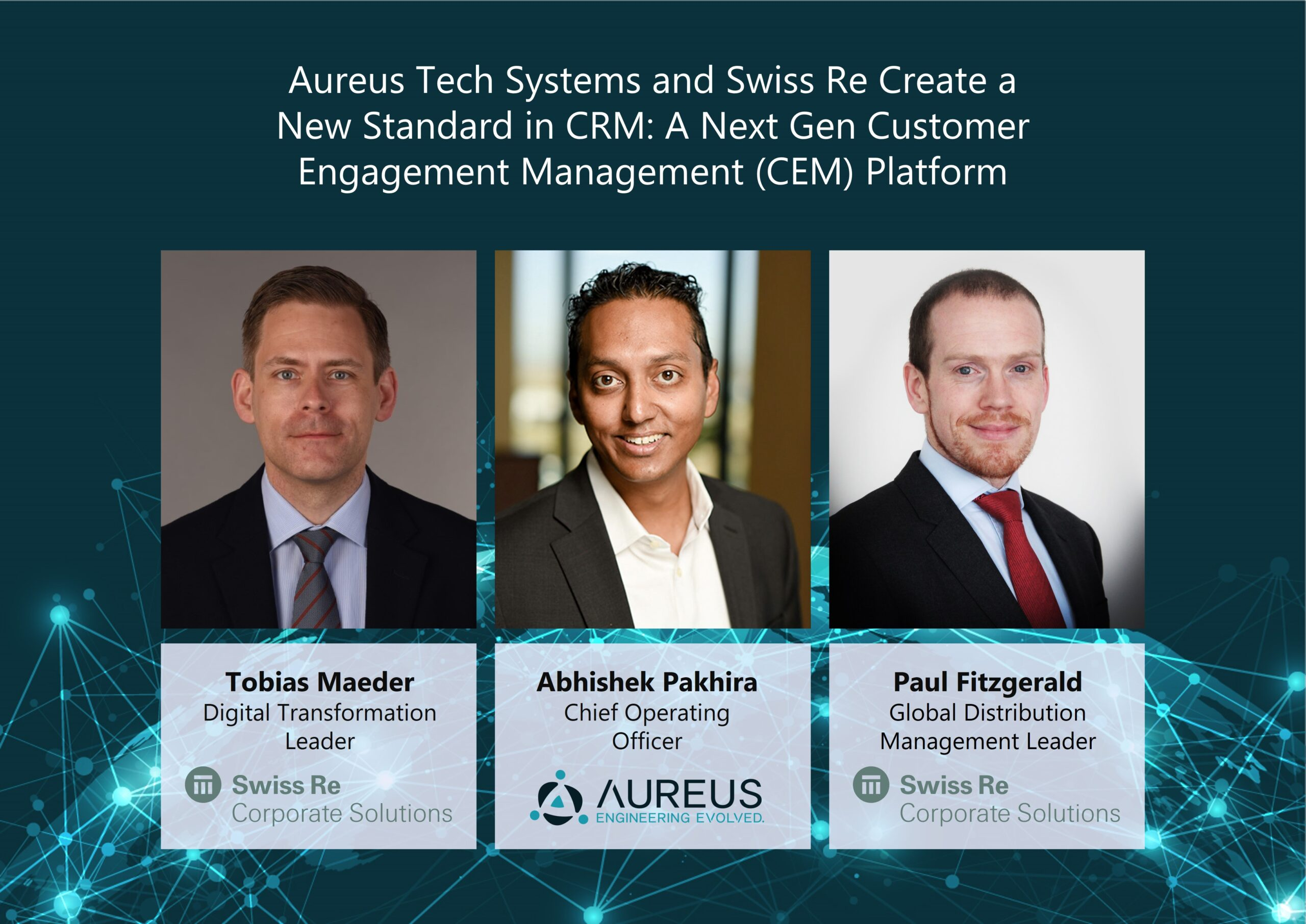 """You are currently viewing """"Aureus Tech Systems and Swiss Re Transform Conventional CRM into a 360° Next Gen Customer Engagement Management Solution using Microsoft Azure Cloud and AI"""""""