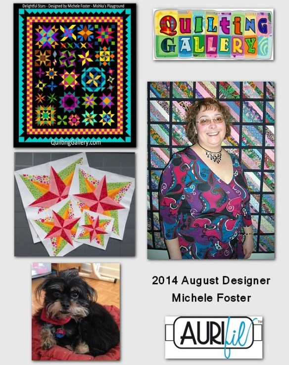 aurifil 2014 Aug designer of the month Michele Foster